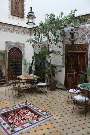Riad Amiris: Riad courtyard