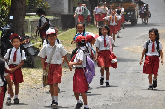 Sobek Bali - Private Tours: schoolkids