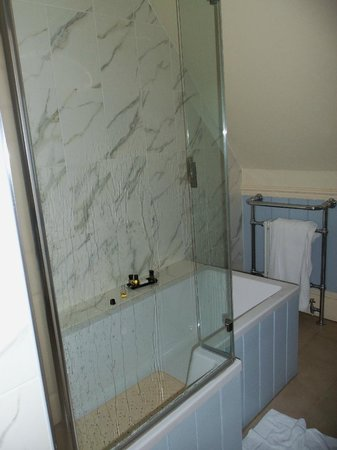 Dower House Hotel: Bathroom shower/bath