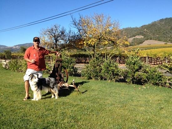 Old Crocker Inn: me and my dog at soda rock winery
