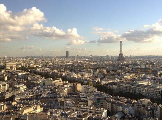 Hyatt Regency Paris Étoile: View from 27th floor.