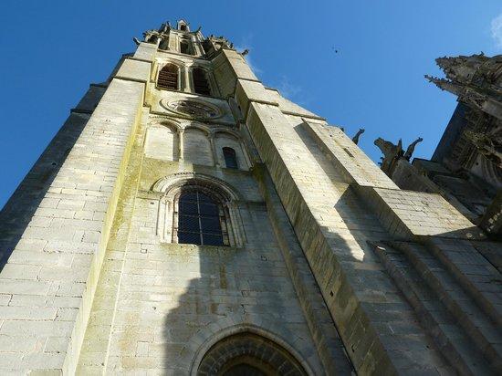 Cathedrale Notre-Dame de Laon: le clocher... vertigineux !