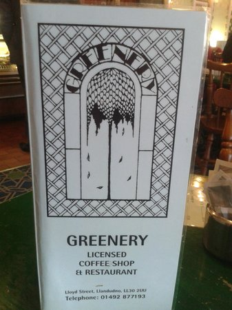The Greenery - Ty Bwyta: menu