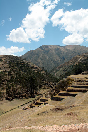 Sacred Valley of the Incas: Terraces & valley at Chinchero (Sacred Valley)