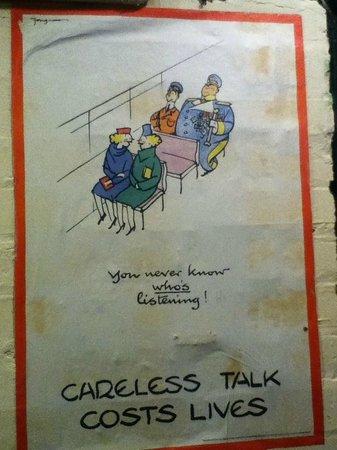 Western Approaches - Liverpool War Museum: Dirty poster, not even framed