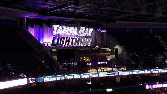 Amalie Arena: between the pipes organ!