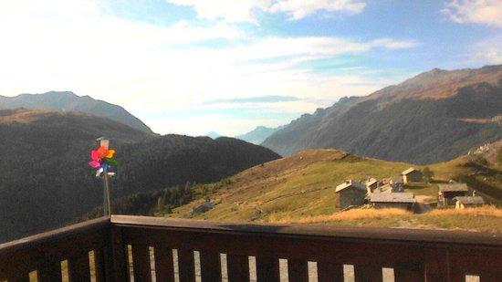 La Baitella Osteria Amalia: view from the terrace of La Baitella to the South