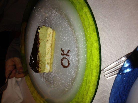Lo Stuzzichino: Ottimo dessert pistacchio e vaniglia