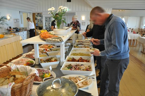 Loderups Strandbad Restaurang : Smörgåsbord