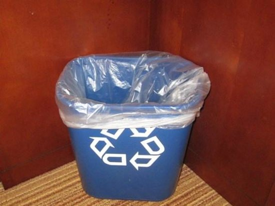 Courtyard Bangor: LOVE LOVE LOVE this recycle bin