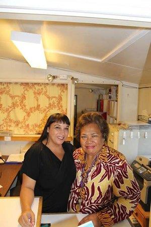 Maria and Mokihana - the Friendly Kauai Palms Hotel staff