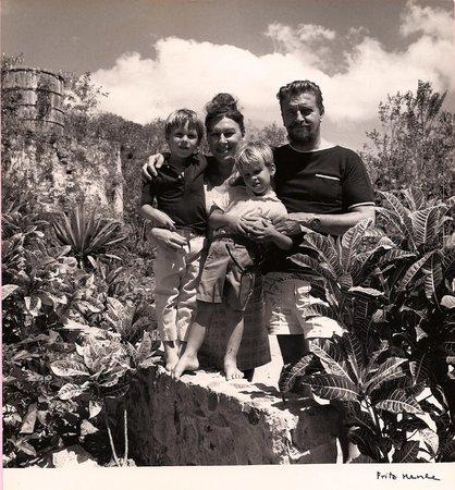 Jim, Rhoda, Eric and Boris in Tillett Gardens, 1960's