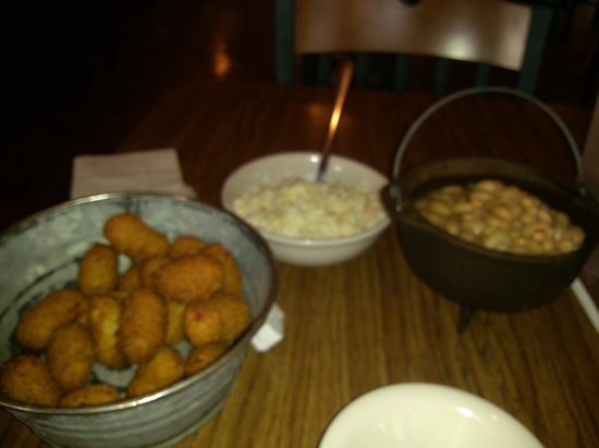 The Catfish House : beans, slaw and hushpuppies