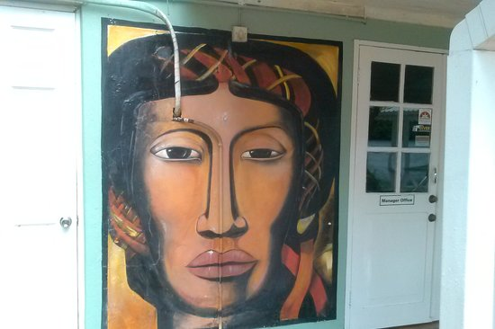 Marigot Beach Club and Dive Resort: Nice Painting outside the resturant
