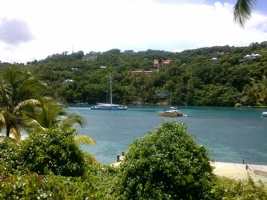 Marigot Beach Club and Dive Resort: View from my room