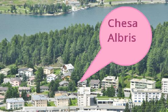 Chesa Albris Bed & Breakfast : Our house location