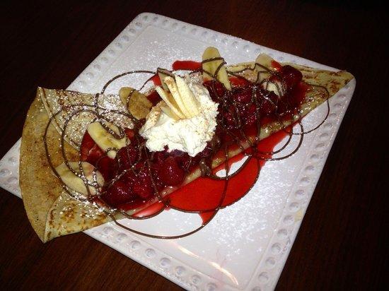 Renata's Creperie: Banana berry crepe at Renata's.
