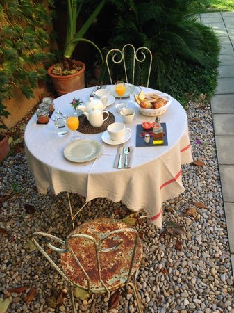 Les Hamaques: colazione