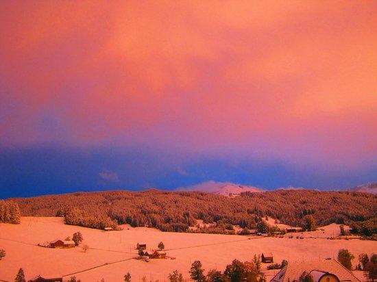 Pension Alpenrosli: Вид из окна
