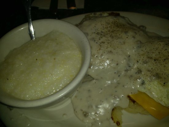 Chappy's Deli - Perry Hill: country egg benedict...3.95. biscuit, sausage, cheese and eggs covered in gravy