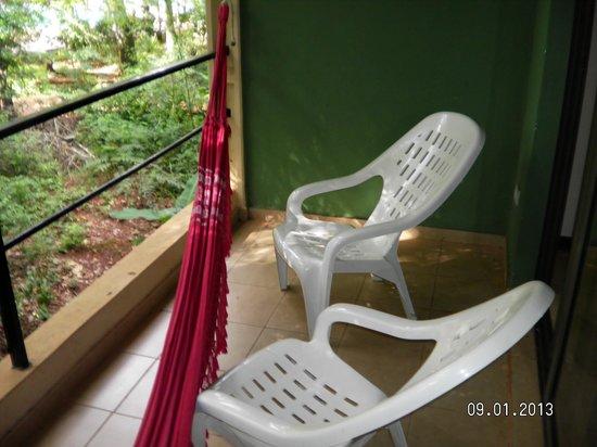 Sol Cataratas Hotel : Hamaca Paraguaya y reposeras (hermosa vista)