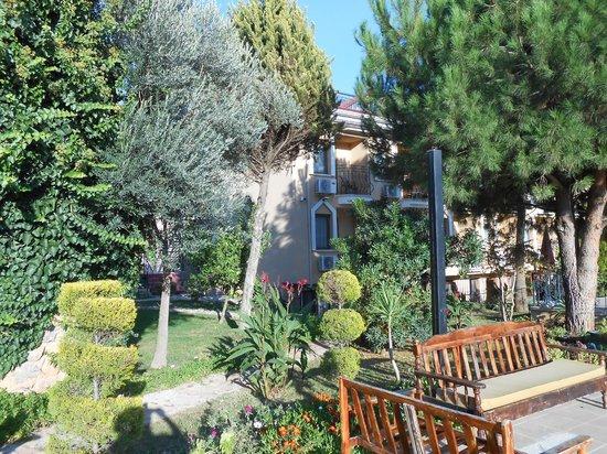 Hotel Destan: our balcony