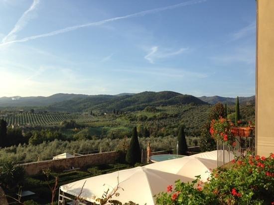Vista dalla terrazza colazione foto van hotel villa la palagina figline e incisa valdarno - Villa la terrazza ...