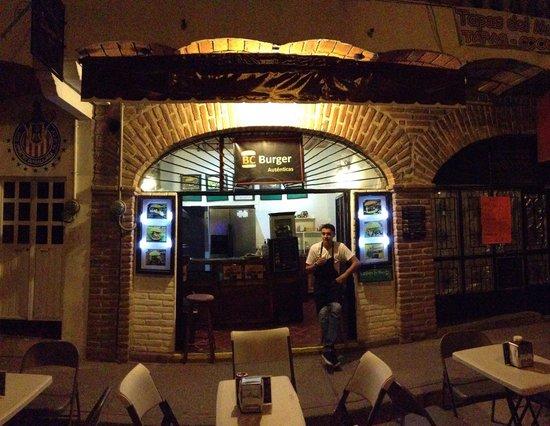 BC Burgers: BC Burger at night..