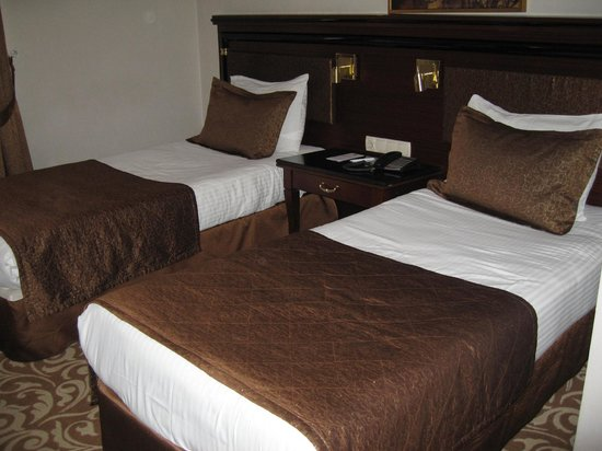 Hotel Mosaic: twin bedded room