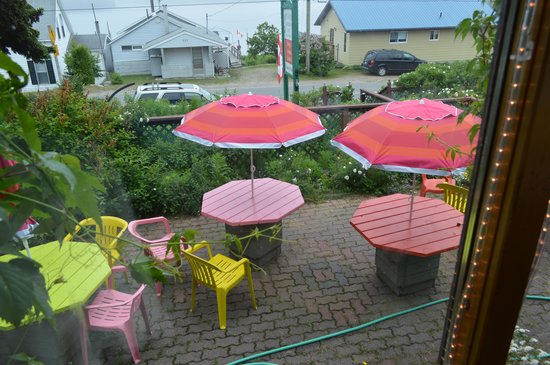 The patio of Serendipity Gardens Cafe