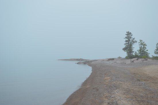 Serendipity Gardens Cafe : The Lake Superior Shoreline just west of Rossport