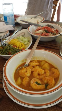 Bonbon Plume: curry crevette, crabe...