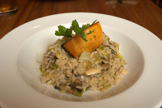 David Bann: mushroom and squash risotto