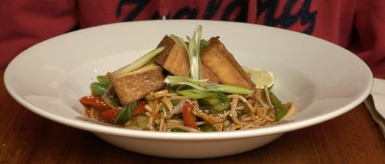 David Bann: noodles with veggies and tofu