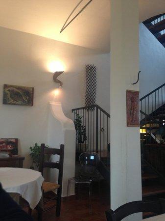 La Lepre Bianca Agriturismo: Edge of dining area