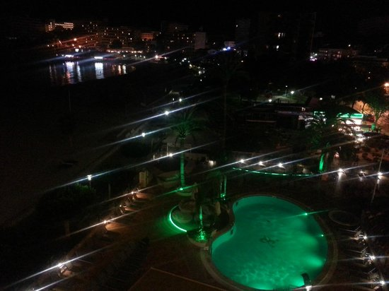 Hotel Son Matias Beach: night view from our room