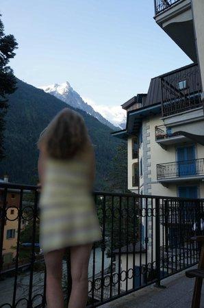Grand Hôtel des Alpes: Vue sur Mont-Blanc l'après-midi