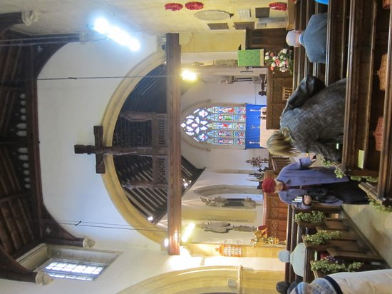 St. Edward's Church: at end of service