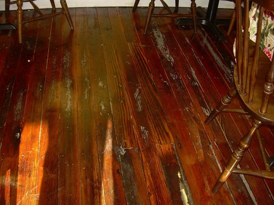 The Odd Fellows Cafe: The wood floors are original from the 1880s