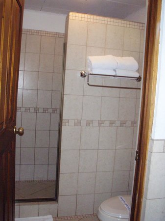 Casa Conde Beach-Front Hotel : Shower area, toiletries provided