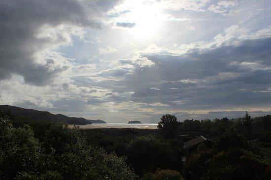 Abel Tasman Ocean View Chalets: View from room.