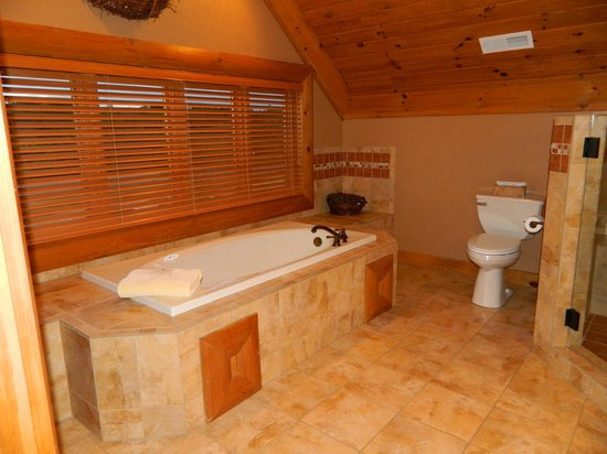 Serenity in the Mountains Luxury Suites: Aaahhhhh the comfort of this jacuzzi tub is great!