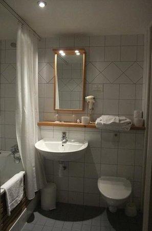 Langley Hotel Gustavia : バスタブのあるお部屋の水回りは清潔でした。