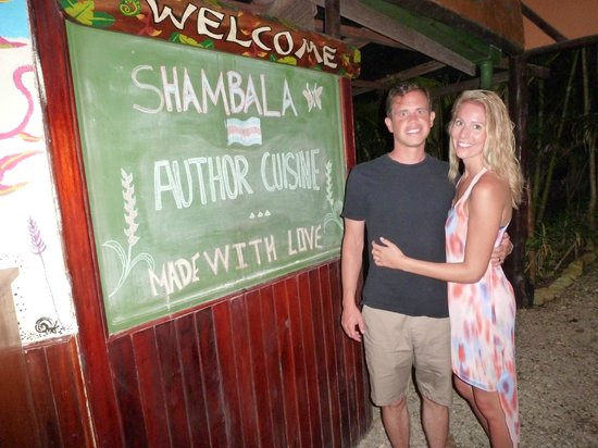 Shambala: We ate here so much, we had to get a sign in front