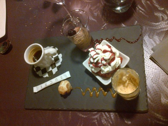 Le Bel'M Restaurant : Café gourmand, un vrai, avec un véritable expresso et de véritables mignardises
