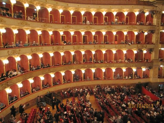 Teatro dell'Opera di Roma: A parcial view of its interior seen from my seat.