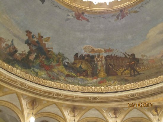 Teatro dell'Opera di Roma: A detail of the beautiful ceiling.