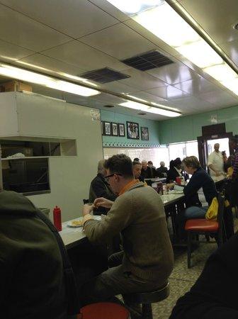 Lafayette Coney Island: restaurant inside