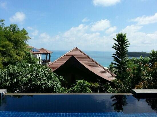 Nora Buri Resort & Spa : View of hillside pool villa seaview