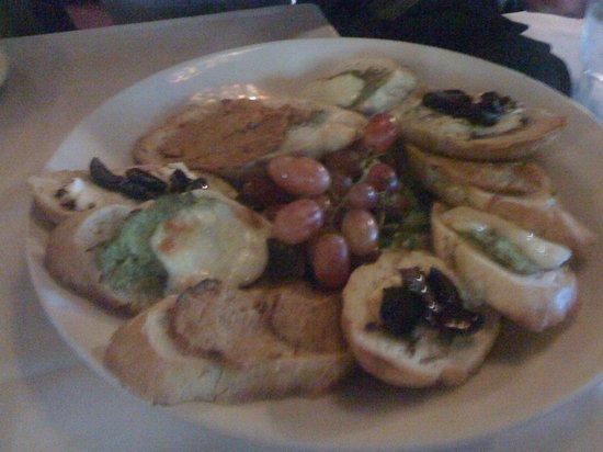 The Nova Wine Bar and Restaurant: bruschetta appetizer platter